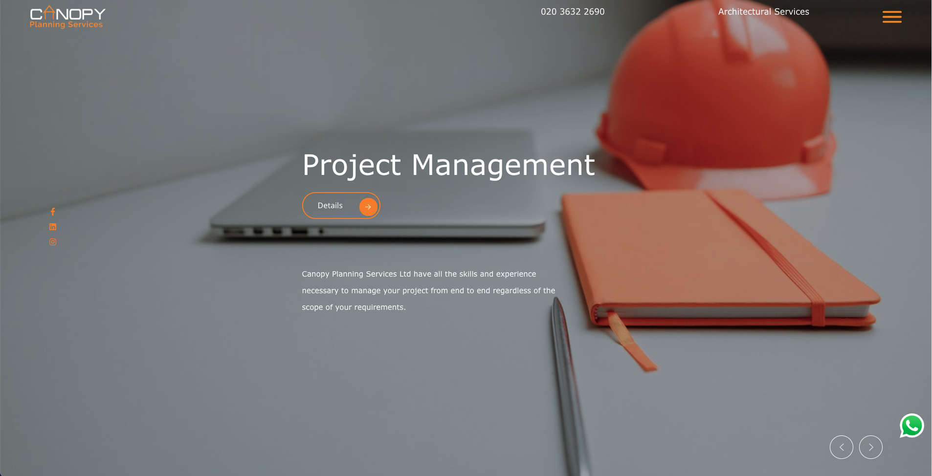 Website design project Canopy Planning