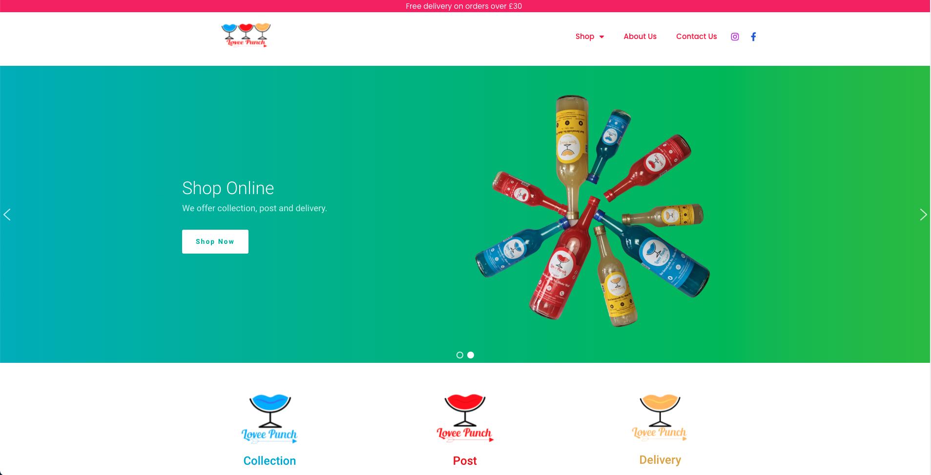 Website design project Lovee Punch